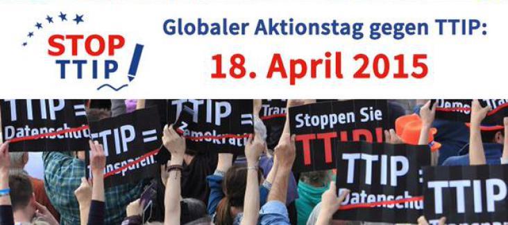 Globaler Aktionstag Stop TTIP