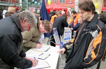 Stand Unterschriftensammlung: Thüringen